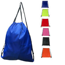 Drawstring Cinch Tote Storage Bag Sack for Travel Gym Work School Adults Kids