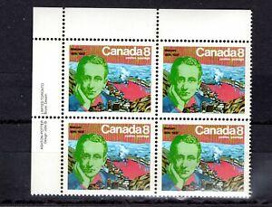 CANADA - MARCONI - 654 CORNER BLOCK OF 4 - FMNH - 1974