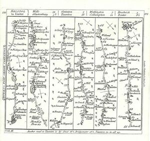 Antique-map-The-Road-from-Bristol-to-Exeter