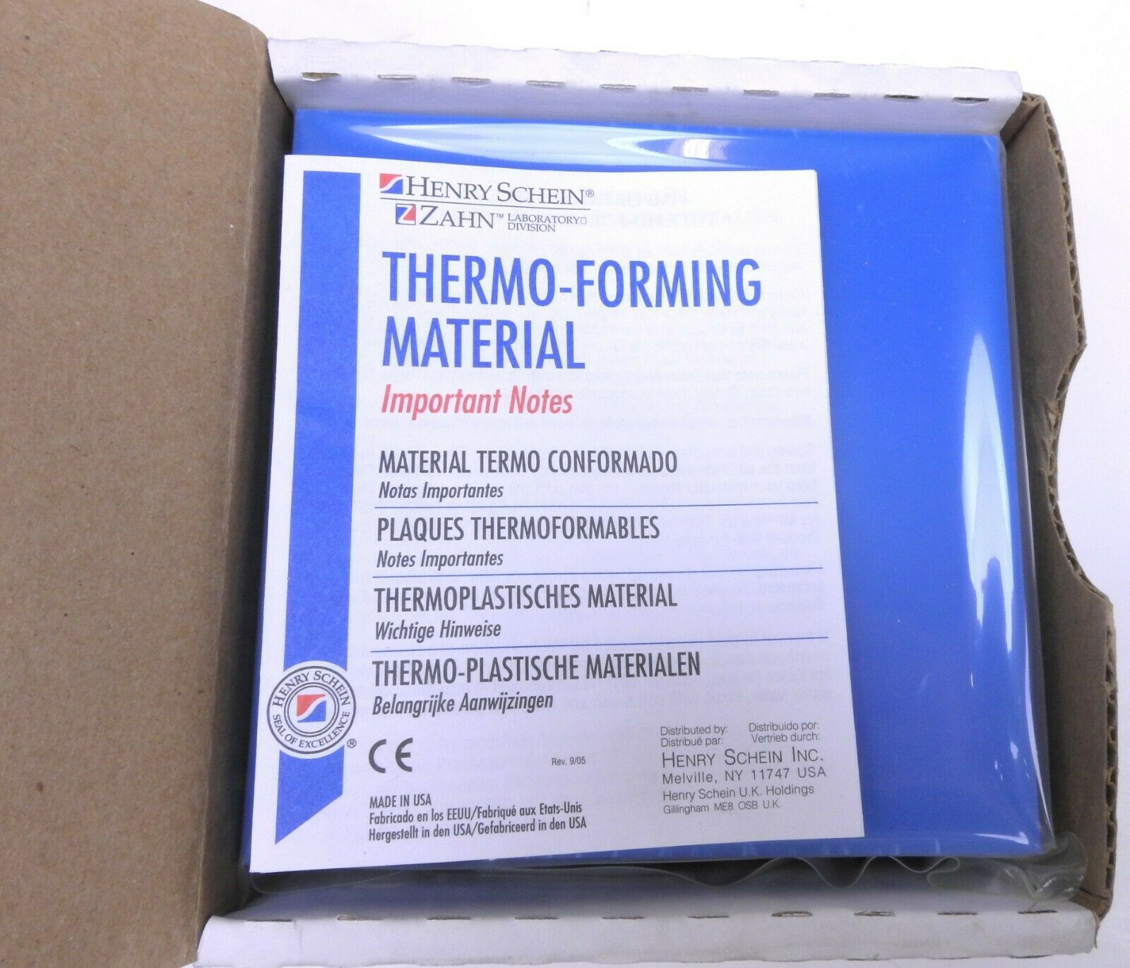 Henry Schein Thermo Forming Material