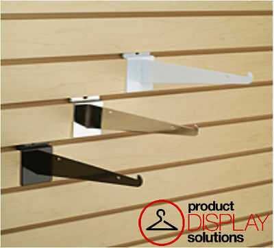 New or Retail Heavy Duty Slatwall White Shelf Bracket 16 inch