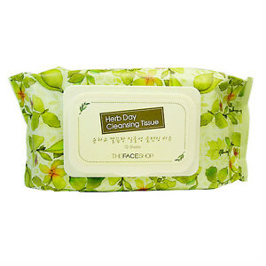 Image is loading The-Face-Shop-Herb-Day-Cleansing-Tissue-Facial-