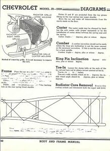 image is loading 1939-chevy-model-jb-nos-frame-dimensions-align-