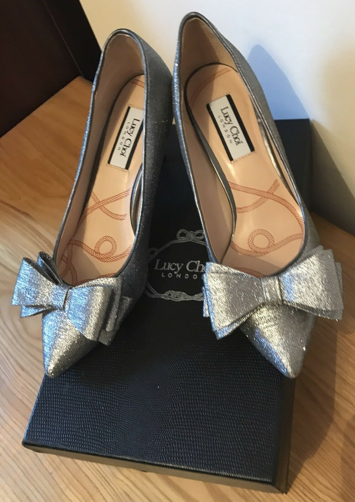 Lucy Choi Ceres Silver Glitter Shoes Condition. In Box.  Perfect Condition. Shoes  Size 36 17a6d9
