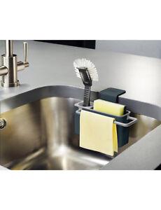 Joseph-Joseph-Kitchen-in-Sink-Draining-Caddy-for-Brush-Sponge-Kit-Grey