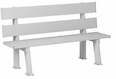Groovy Dura Trel 11136 5 Feet Park Bench White For Sale Online Ebay Ncnpc Chair Design For Home Ncnpcorg