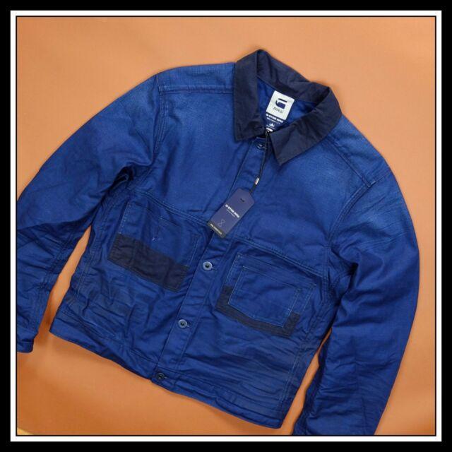ce8819e7231 G-Star Raw Mens Jacket Essentials Re Labour Blue Denim RARE Uniqe ...