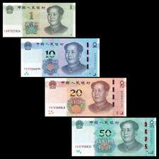 China Set 4 PCS, 1 10 20 50 Yuan, 2019,  P- New, UNC, New Issue, Banknotes