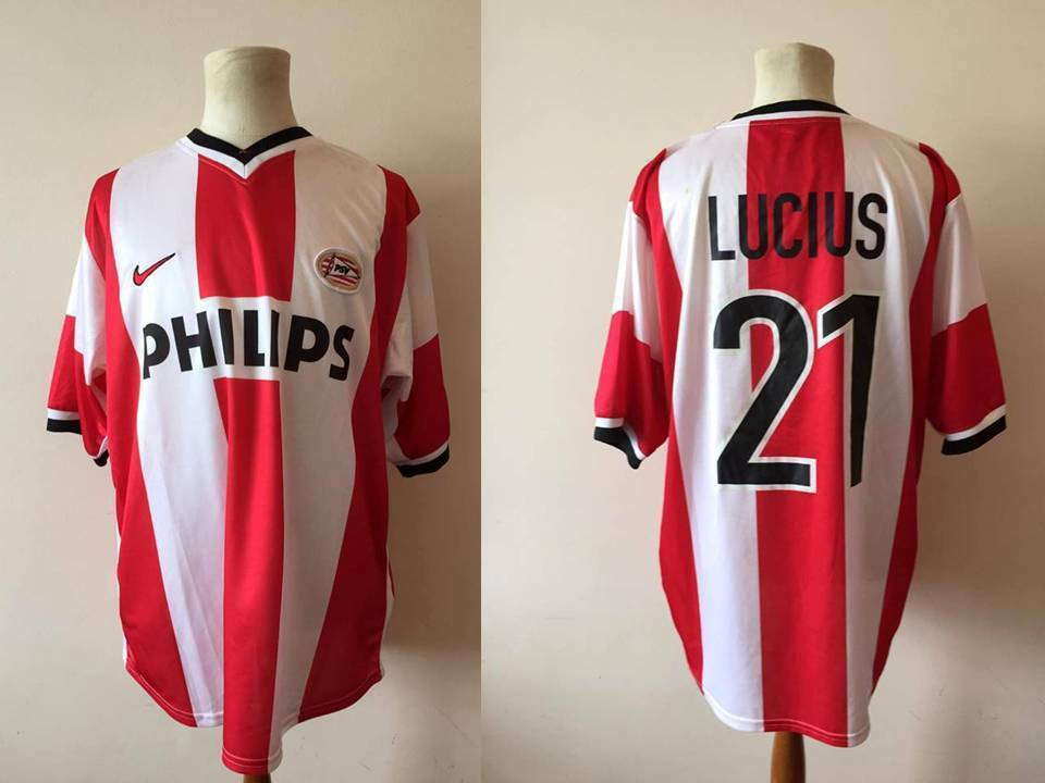 PSV EINDHOVEN 1999 MATCH WORN USED BY THEO LUCIUS FRIENDLY VS NACIONAL
