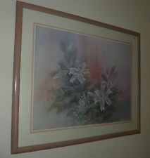 deco wall art Lena Liu painting picture Imperial Silver Lily USA litho