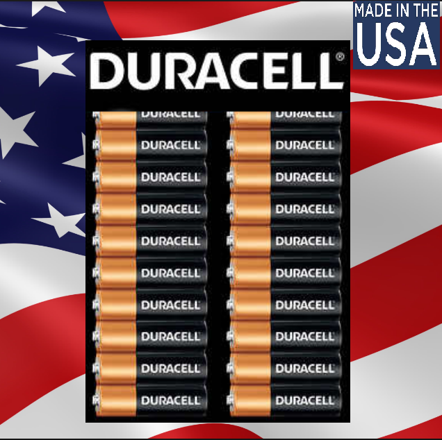 48 x AA Duracell Copper Top Alkaline Battery-1.5 V-2027 MADE IN USA Bulk 10 Year