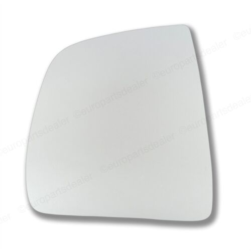 Passenger Side CONVEX WING DOOR MIRROR GLASS For Fiat Doblo 2010-On Stick On New