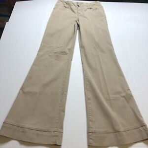Level-99-Tan-Wide-Leg-Trouser-Pants-Sz-29-Anthropologie-A1557