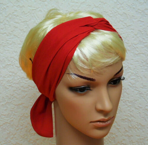 hair scarf long scarf Red Headscarf head scarf hair bandana hair covering