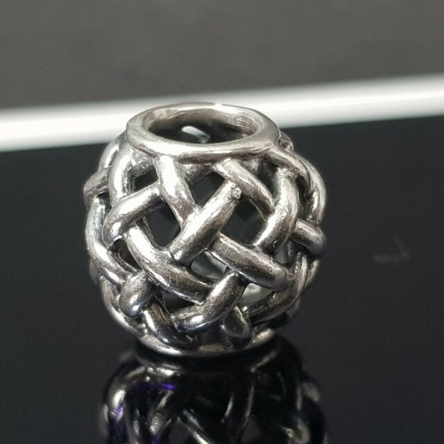 picked up shop best sellers official site Pandora Forever Entwined Openwork Basket Weave Silver Charm 790973 Free  Postage
