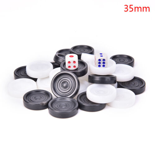 1 Set Chess Draughts//Checkers//Backgammon Chess Piece for Kids Board Ga WDcy