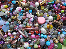 75g Bead Soup Mix Glass, Gemstone, Shell, Glass Pearls Acrylic, Czech Glass