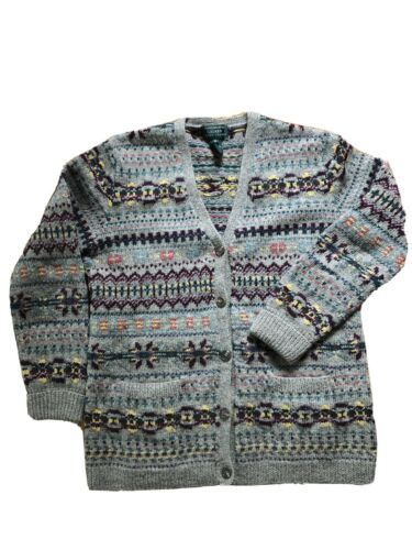 Vintage Ralph Lauren Hand Knit Wool Fair Isle Card