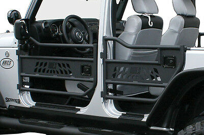 Aries Automotive Aluminum Tubular Front Doors 07-15 JEEP WRANGLER JK 15009
