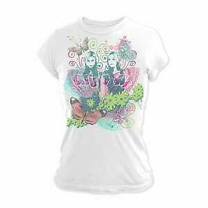 White Aly /& AJ Full Butterfly Junior Tee Small