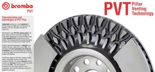 For MB C204 X218 W212 AMG Rear Left or Right Brake Disc Rotor Drilled Brembo