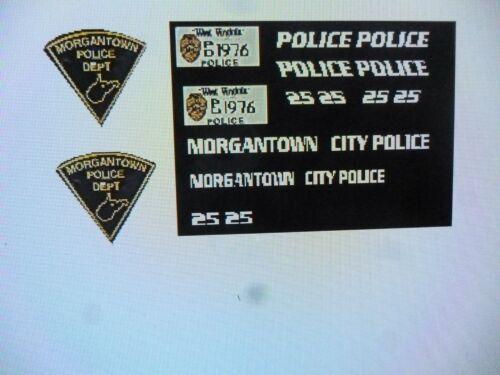 Morgantown West Virginia  Police  Patrol Car Decals 1:24
