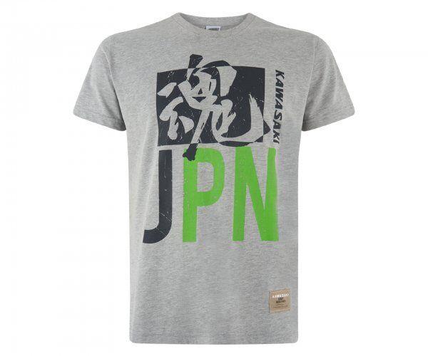 Kawasaki Japan Men's T-Shirt Grey Shirt New