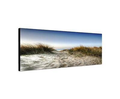 150x50cm Wandbild Panorama Sandpfad durch Dünen zum Meer Poole England Sinus Art
