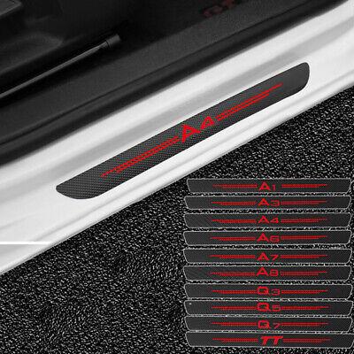 Seuil Lackschutz Aluminium POUR Audi q2 à partir de 2016 carbonfolie