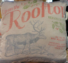 Christmas --Reindeer Feed -Throw Pillow -Primitive By Kathy-2 Sided