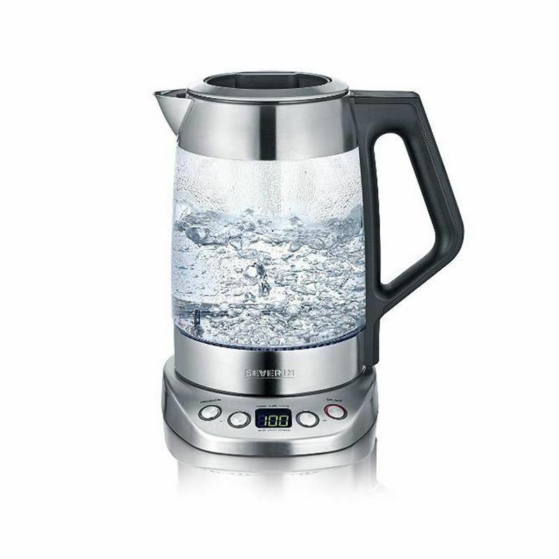 Severin Wk 3479 Digital Cristal Té Agua Hervidor Deluxe Fácil Seleccione Función