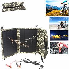 Solar Panel Ladegerät für 5V USB & 12V Akku Batterier akku Auto Motorrad