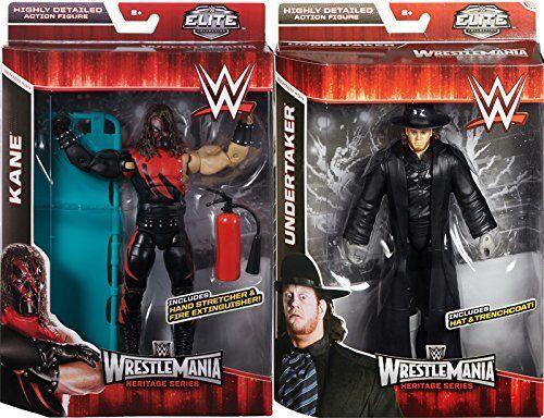 WWE ELITE WRESTLEMANIA KANE & UNDERTAKER HERITAGE SERIES   NEW