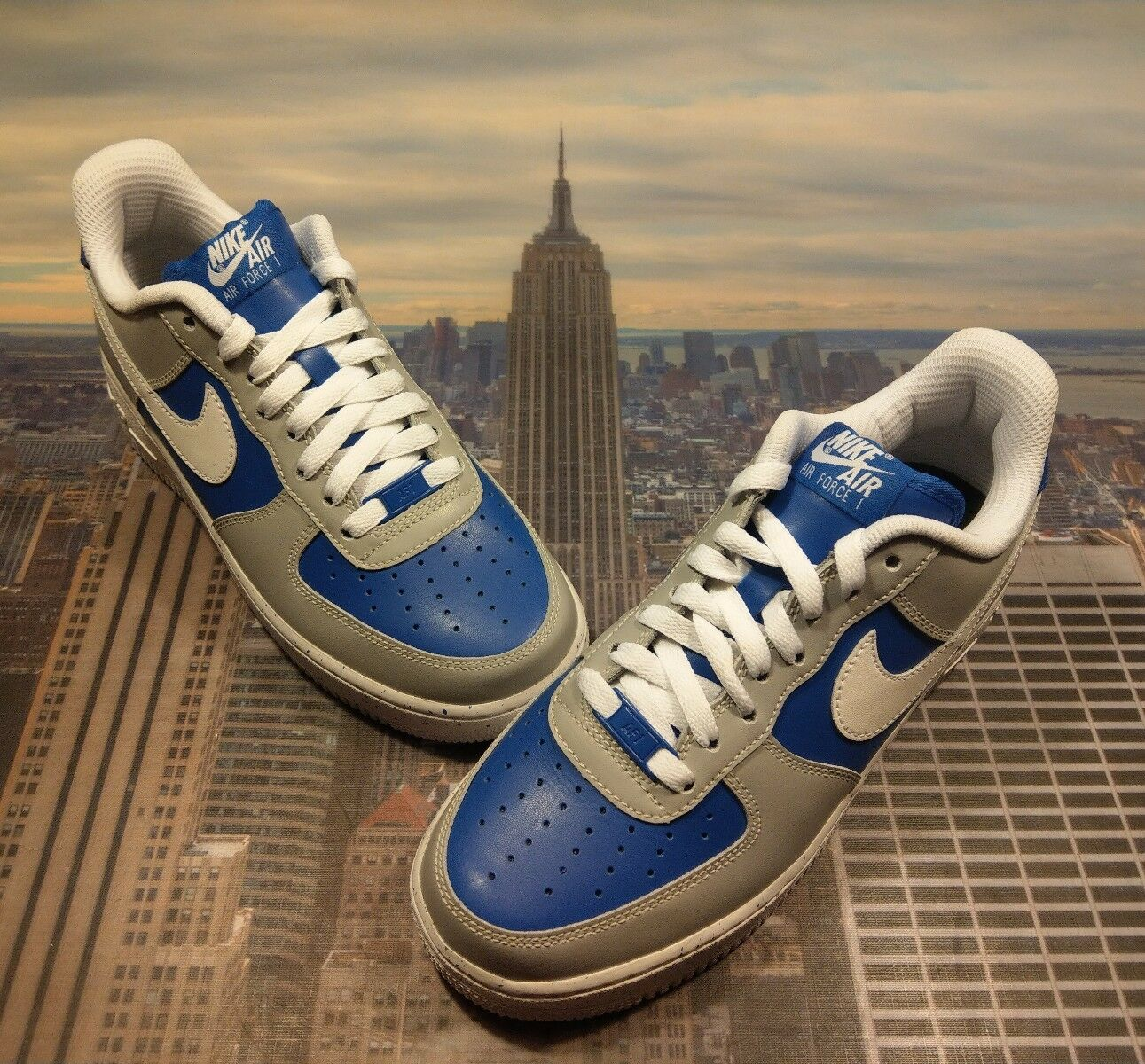 Nike iD Air Force 1 Military blueee AJ4 Men's Size 7 Low Mid High AH6512 991 New