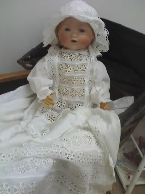 Antiguo Cabeza De Porcelana Hermoso Bebé Muñeca A&M