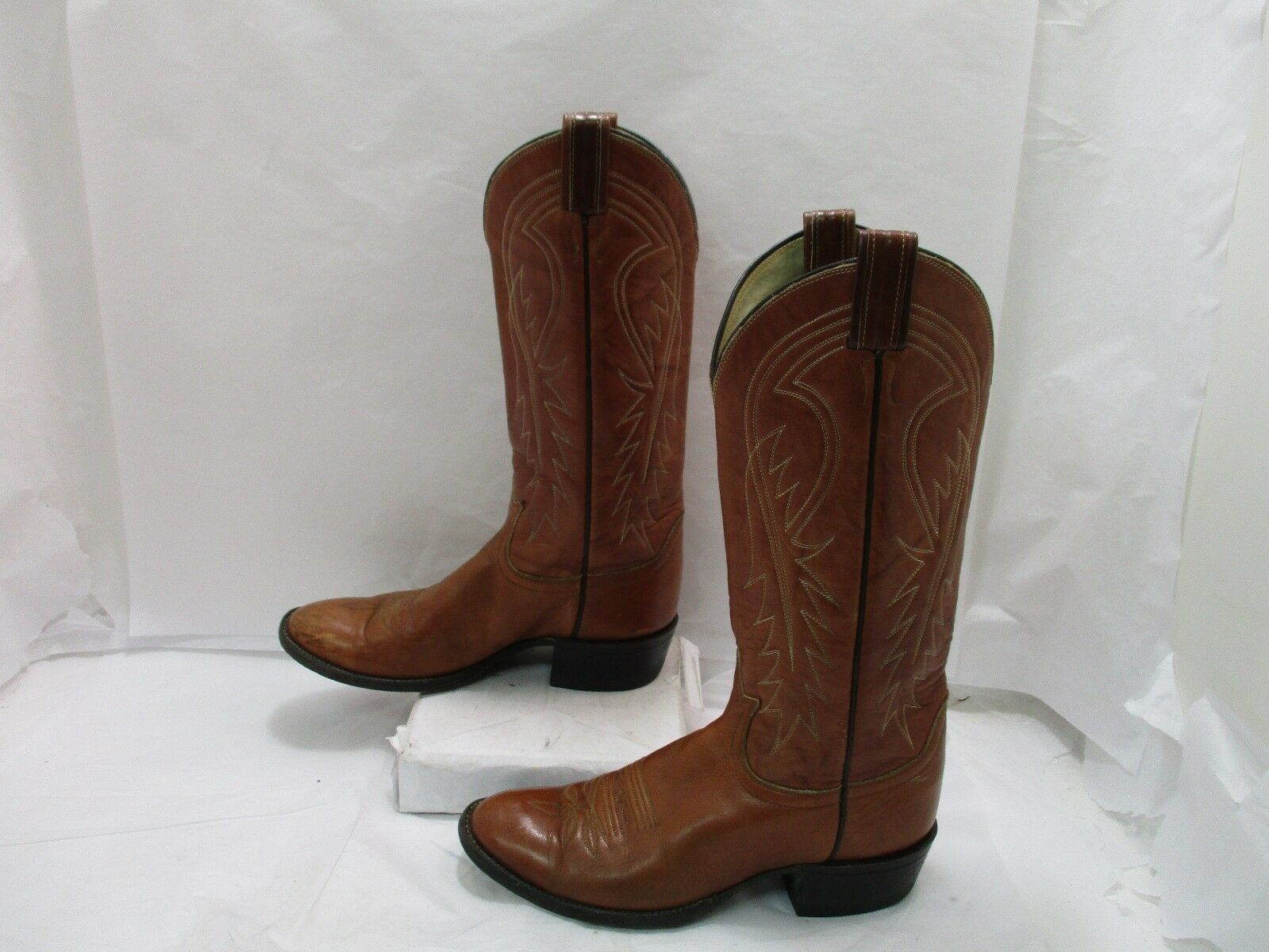 Ladies Brown Leather Leather Leather Tony Lama Cowgirl Western Boots Sz 6B ( 20044 AD) ee514d