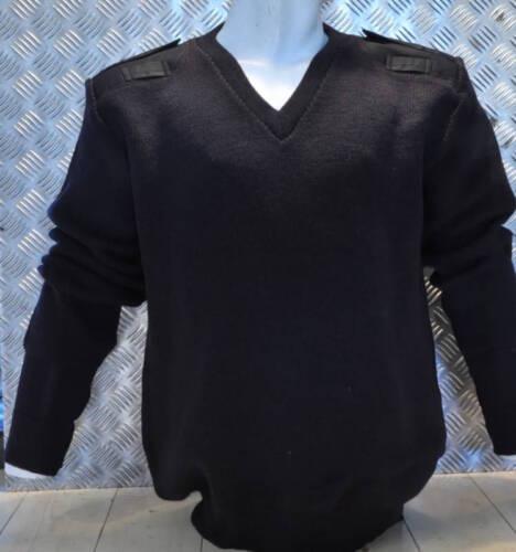 Laine Taille noir 100 Tricot v Col Véritable Modèle 102cm Police Britannique AzA8p