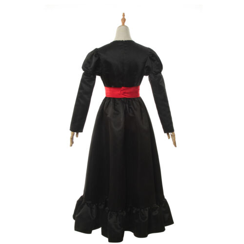 Annabelle Comes Home Cosplay Costume Halloween Horror Fancy Black Dress Suit