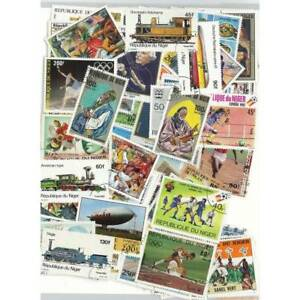 Collection-de-timbres-Niger-obliteres