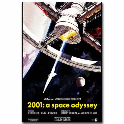 2001 A Space Odyssey Movie Silk Fabric Canvas Poster Decor 003