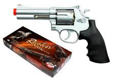 "TSD UHC Airsoft .357 Revolver Spring Powered Pistol Gun Shells UA933S Silver 4"""