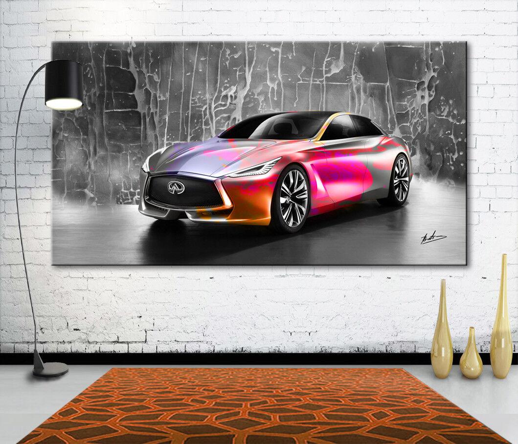 INFINITI Q80 Sportwagen Auto Deko Bilder Abstrakt Kunst Leinwand Wandbild  2164A