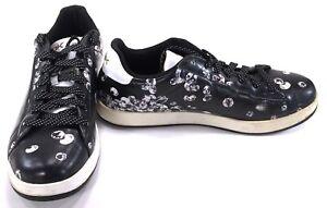 dcf0c0ada13e Image is loading Reebok-Shoes-Reebopper-Classic-Diamonds-Leather-Black- Sneakers-