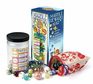 School-Childrens-Marble-Reward-Jar-50-Glass-Marbles-Indoor-Game-Educational