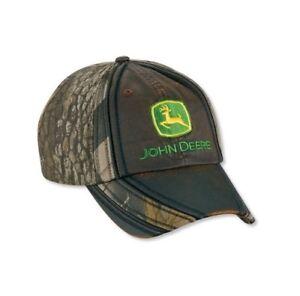 bc02b1f2643 Image is loading JOHN-DEERE-REALTREE-HARDWOODS-CAMO-Leather-Trade-Mark-