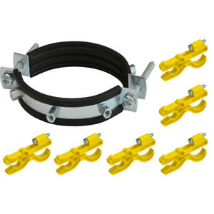 Kit 6 Holders Plastic +1 Support Rain Fences Electrified High T