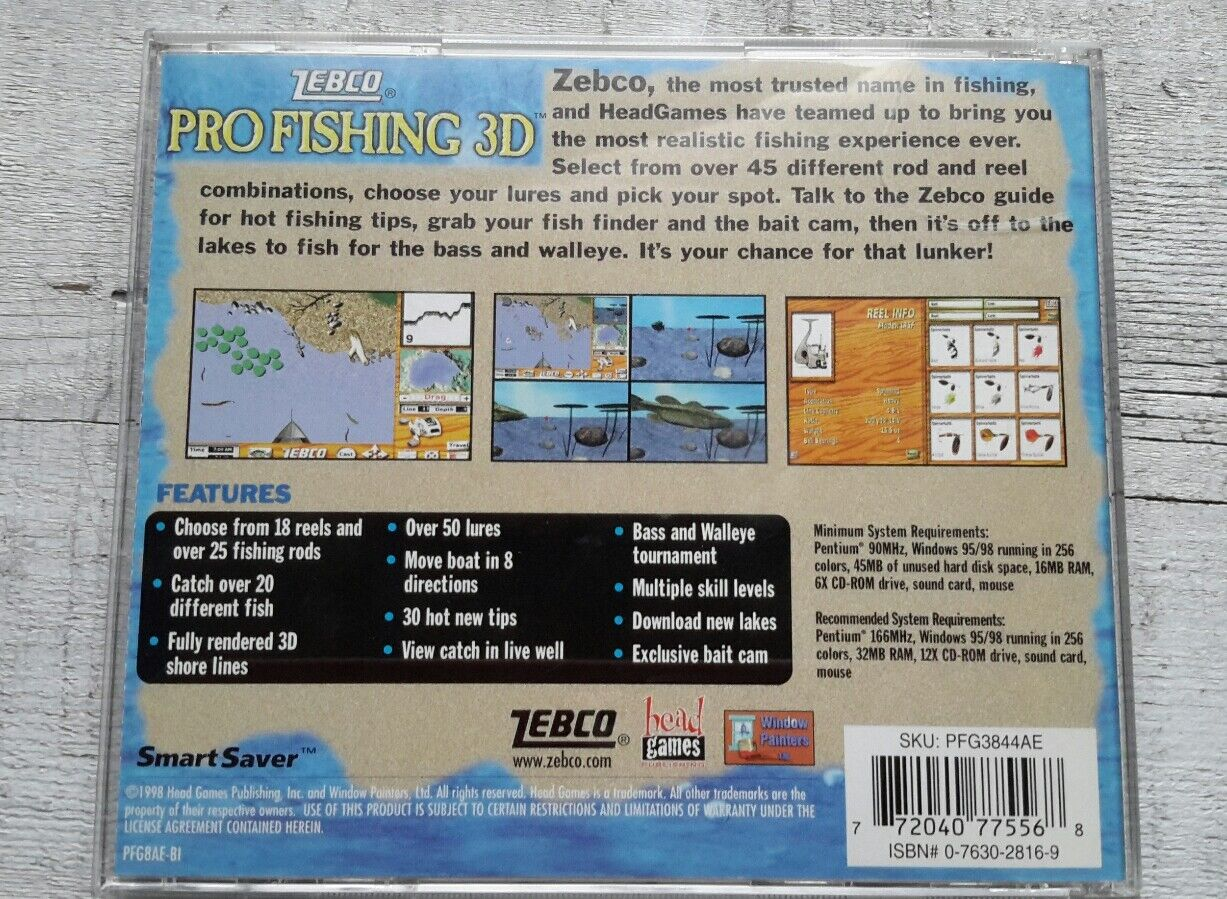 Lot of 3 Rollercoaster Tycoon, Fishing, Golfing CD-Rom Games Windows