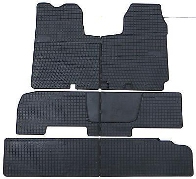 Gummifußmatten Gummimatten Fußmatten Nissan Primastar 1+2.Reihe von TN 2001-2014
