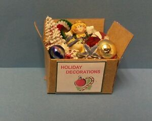 Dollhouse miniatures handcrafted box christmas holiday decorations 1