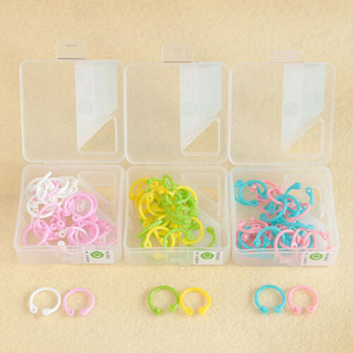 Colorful Loose Leaf Book Notebook Ring Binder Hinged Circle Rings Clips KY